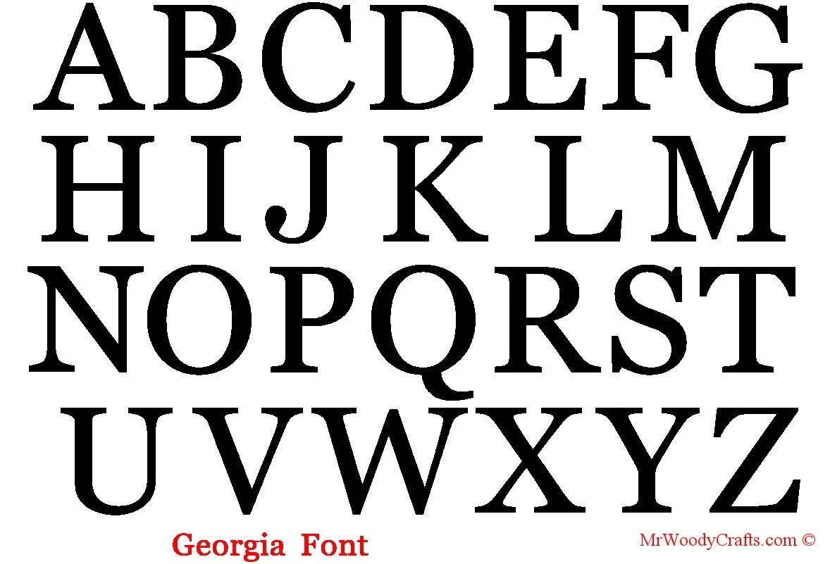 16 Unfinished Wooden Letters 5 Fonts Georgia by MrWoodyCrafts