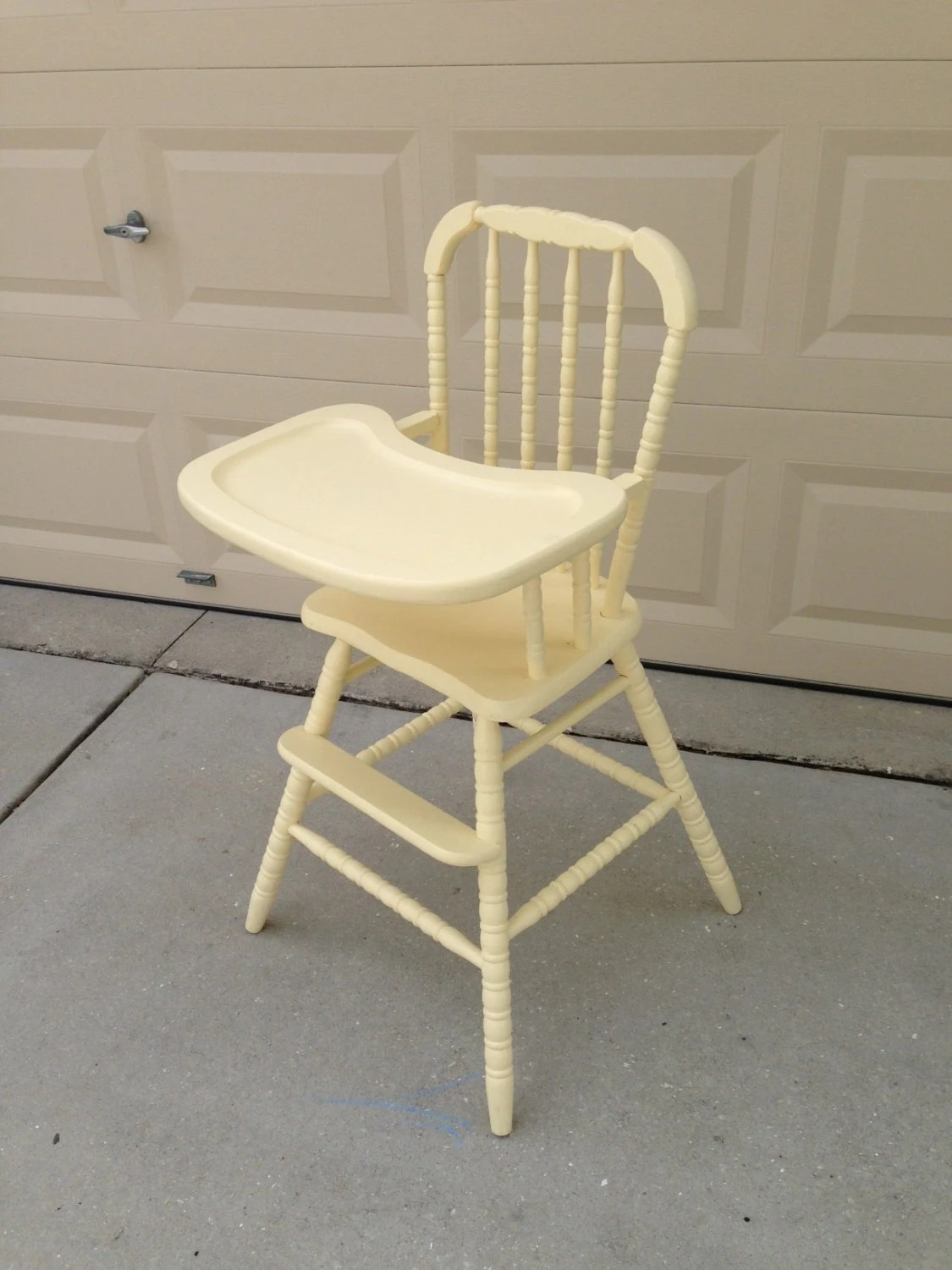 wooden baby high chairs uk chair lifts for stairs with landings items similar to vintage on etsy
