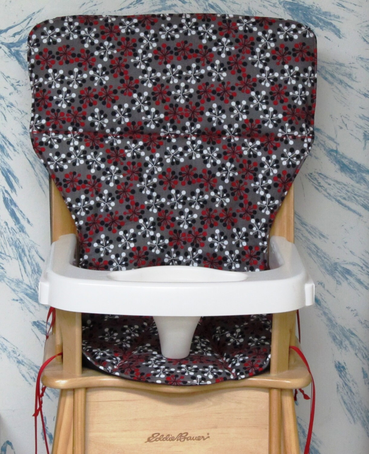 eddie bauer high chairs best booster chair for 2 year old cover replacement pad red by