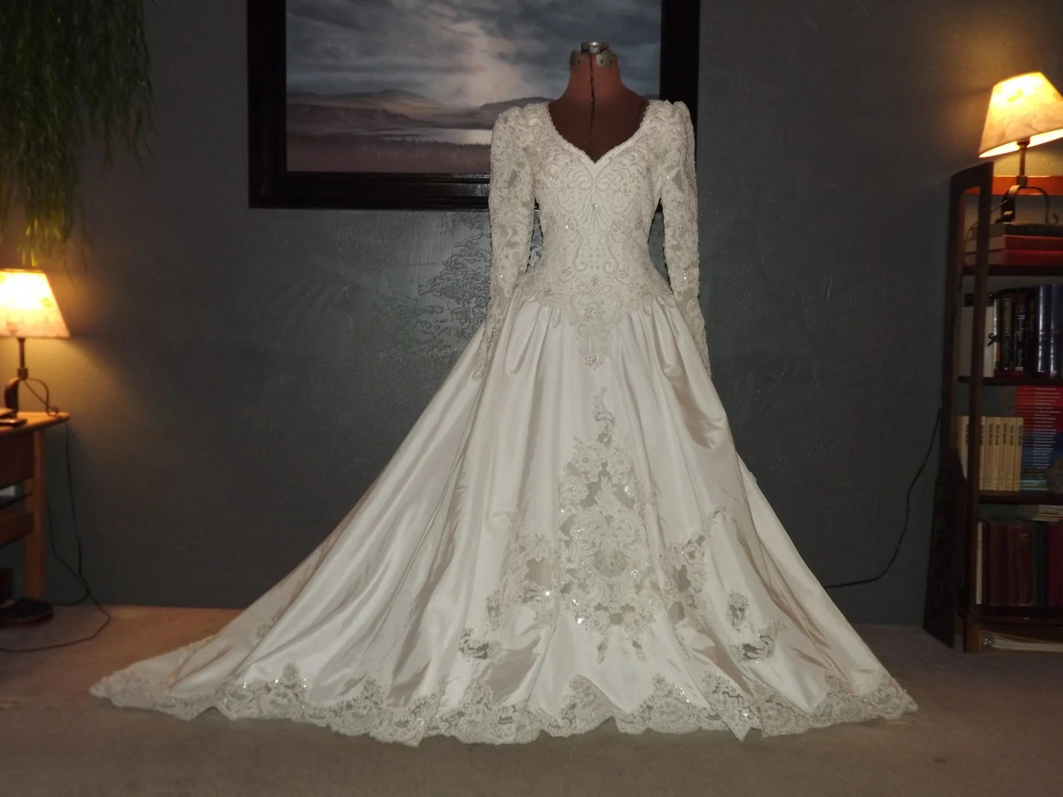 Vintage 1990s Wedding Gown By Bonny Stunning By