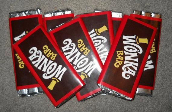 Generic Wonka Bar Labels  Etsy