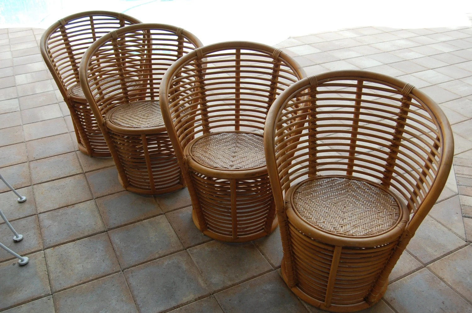 Vintage Rattan Chairs Vintage Bamboo Rattan Chairs On Sale Palm Beach Regency Style