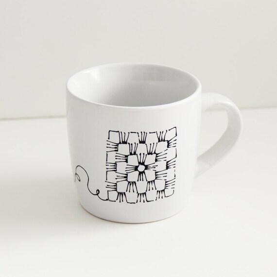 Granny Square Mug