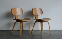 Vintage Mid Century Modern Thonet Plywood Chair Set of 2