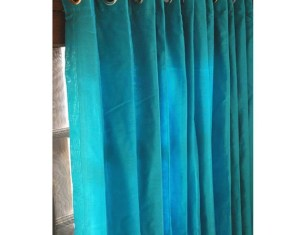 Aqua Window Curtains