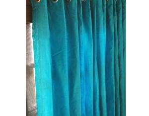 Aqua Window Curtains