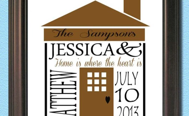 Personalized Housewarming New Home Gift Print By Acustomdesign