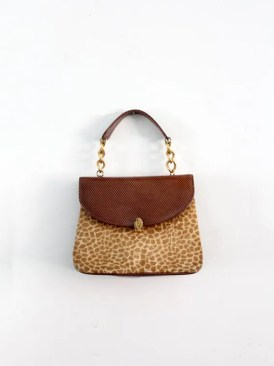 1960s animal print handbag, leather clutch