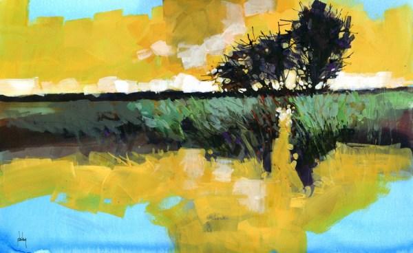 original semi-abstract landscape