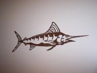 Items similar to Blue Marlin fish sign metal wall art ...