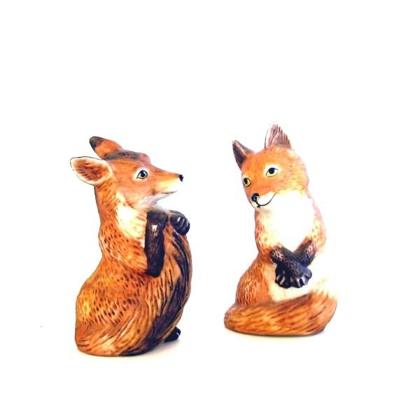 Vintage Animal Figurines Red Fox Franklin Mint Noahs Ark