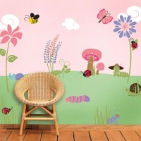 Flower Stencil for Painting Girls Room Wall by MyWallStencils