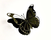 Paper Butterfly, Black, Goth, Black Beauty - MyButterflyHeaven