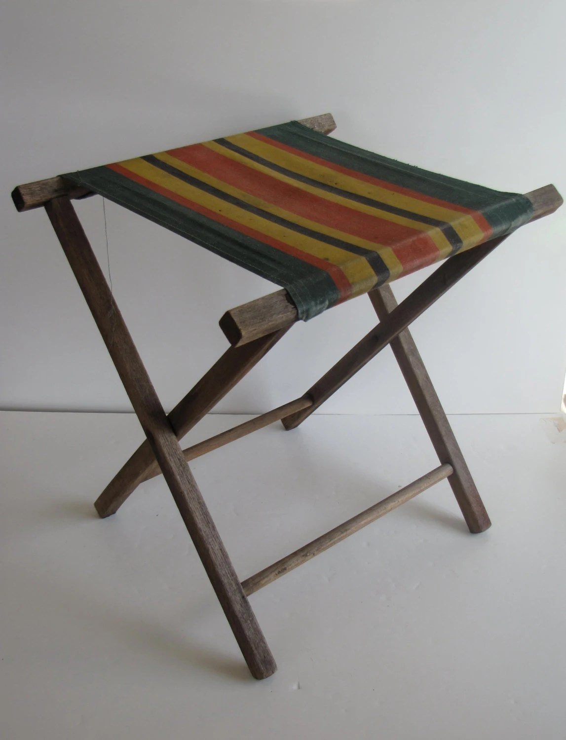 wood camp chair covers canada for sale vintage and canvas stool by