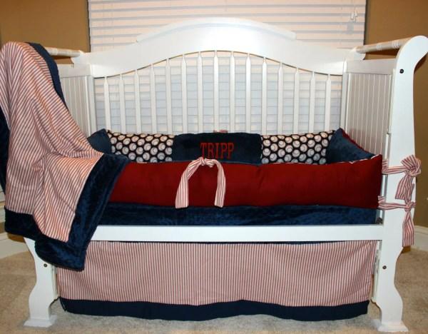 Custom Baby Bedding Vintage Baseball Set