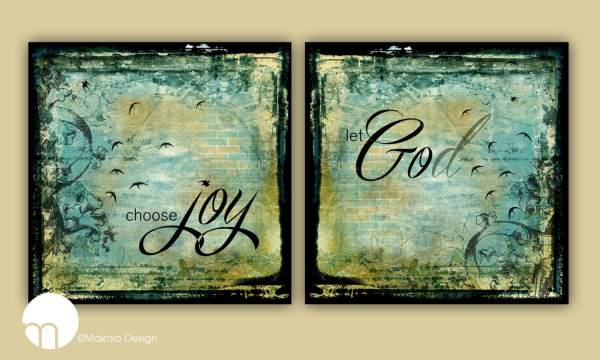 Contemporary Christian Art Choose Joy