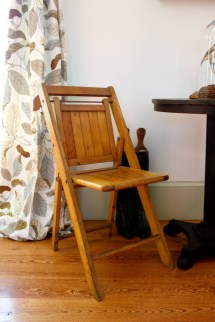 Antique Classic Wooden Folding Chair Set Of 2