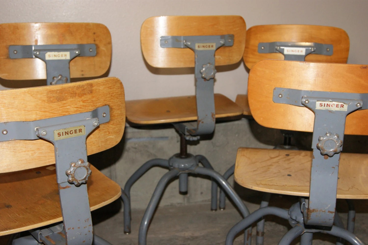 Sewing Chairs Vintage Industrial Singer Sewing Chair Stool