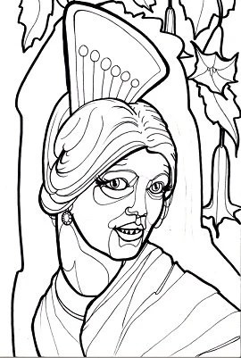 Items similar to la llorona: horror coloring book page