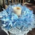 Baby boy blue ribbon wreath baby showerwall by bandginspirations
