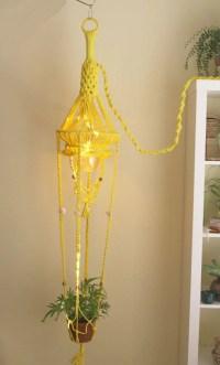 Lemon Yellow Macrame Hanging Lamp / by SelectedAndCollected