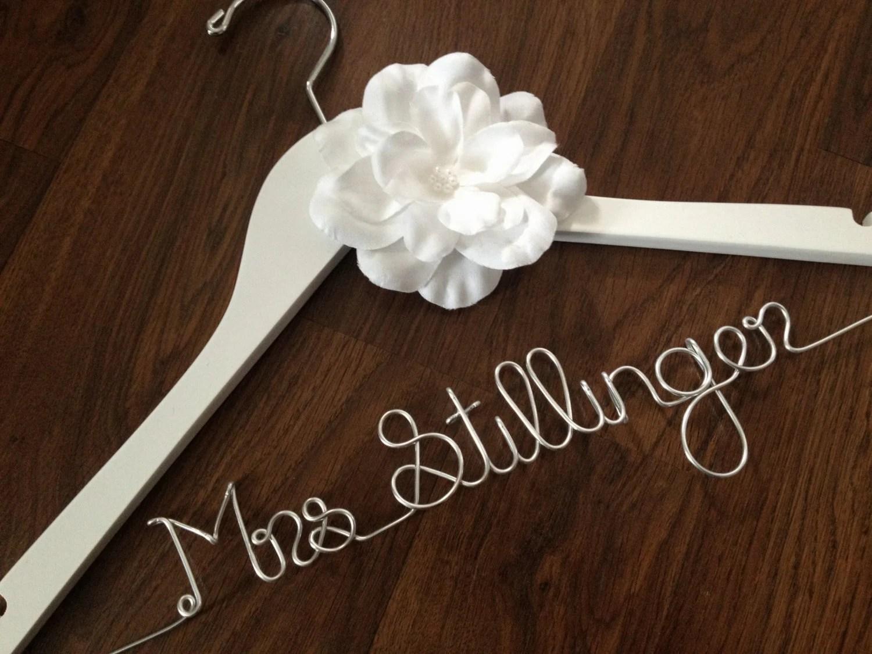 SALE Wedding Dress Hanger Bride Hanger Wedding Hanger