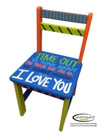 Items similar to Custom, hand-painted TIME OUT chair ...