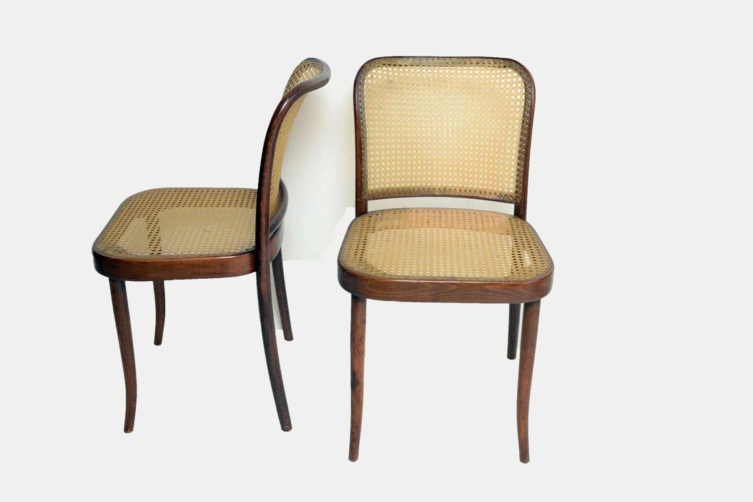 Cane Dining Chairs 6 Thonet Bentwood Cane Dining Chairs 1950 1960 Mid Century