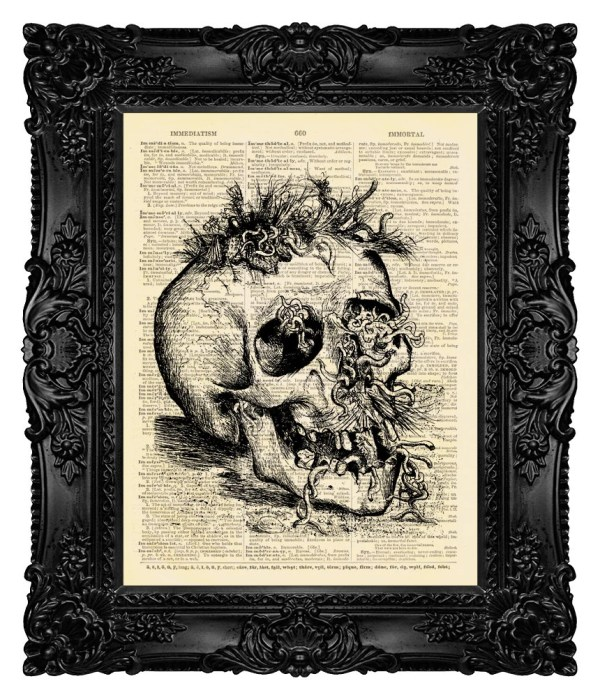 Dark Art Goth Horror Skull Print Madamebricolageprint