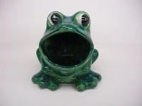 Vintage Ceramic Frog Sponge Holder Green by TheSistersPick