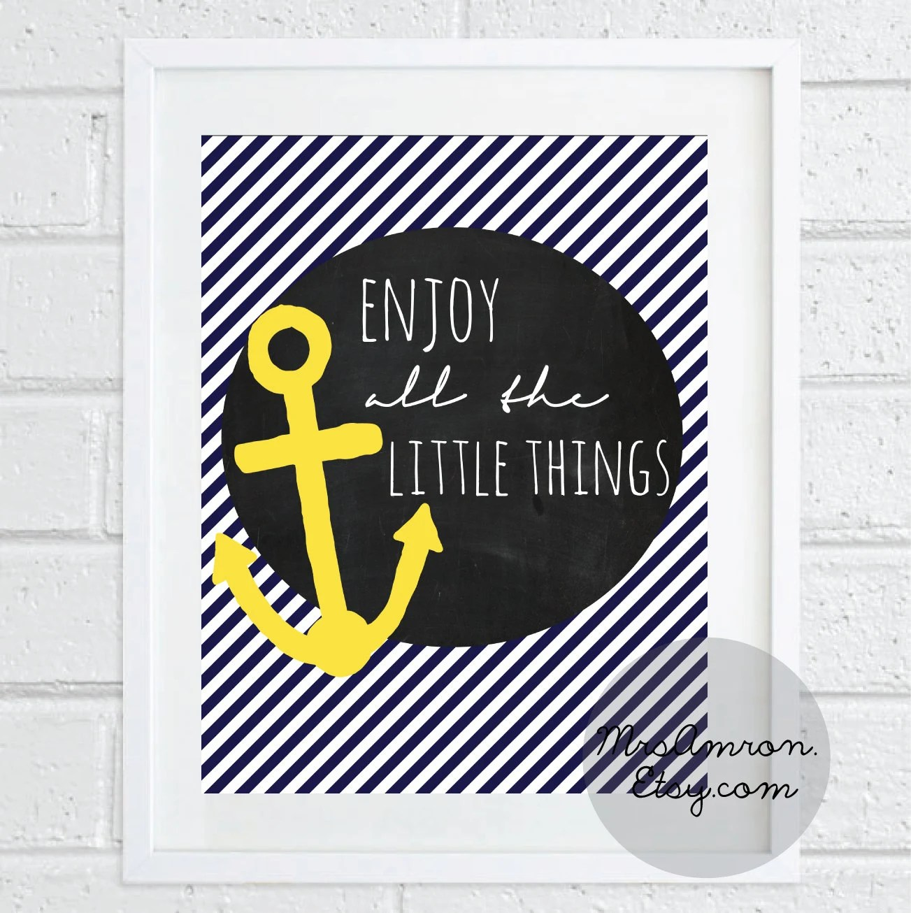 Anchor Life Quote Print 8x10 - inspirational print / quote print / art print / wall print / anchor print / quote /anchor