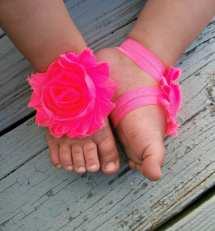 Pink Baby Barefoot Sandals