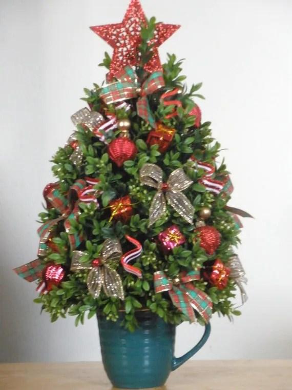 Items Similar To Christmas Tree Premium Boxwood Table