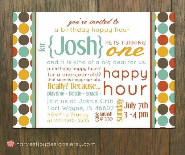 Happy Hour Birthday Invitation Wording