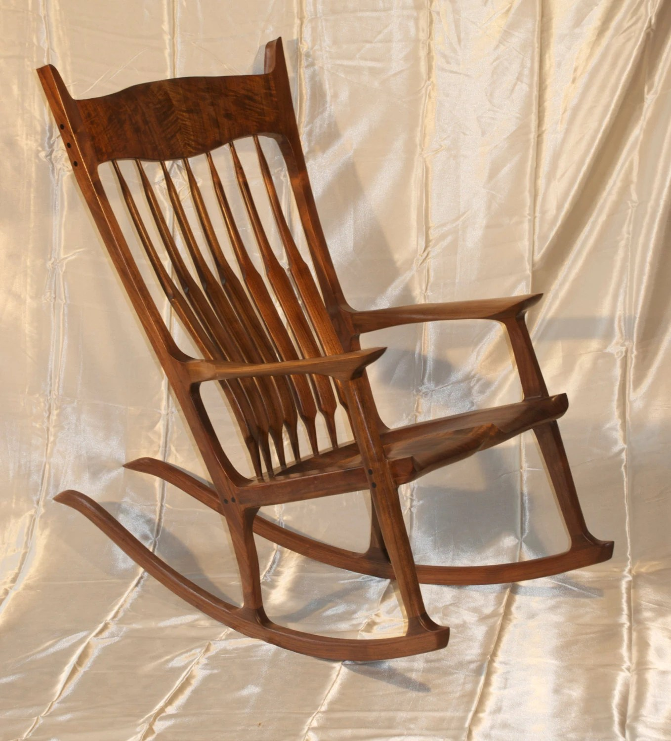 sam maloof rocking chair plans hal taylor wingback leather walmart evenflo high automatic van design logo style shaped by hand out of walnut