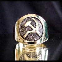 Bronze Hammer and Sickle Ring Communist CCCP by ...