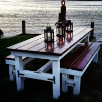Items similar to Beautiful Wooden Large Outdoor Table