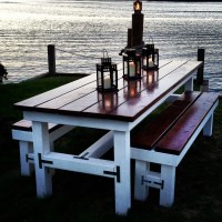 Items similar to Beautiful Wooden Large Outdoor Table ...