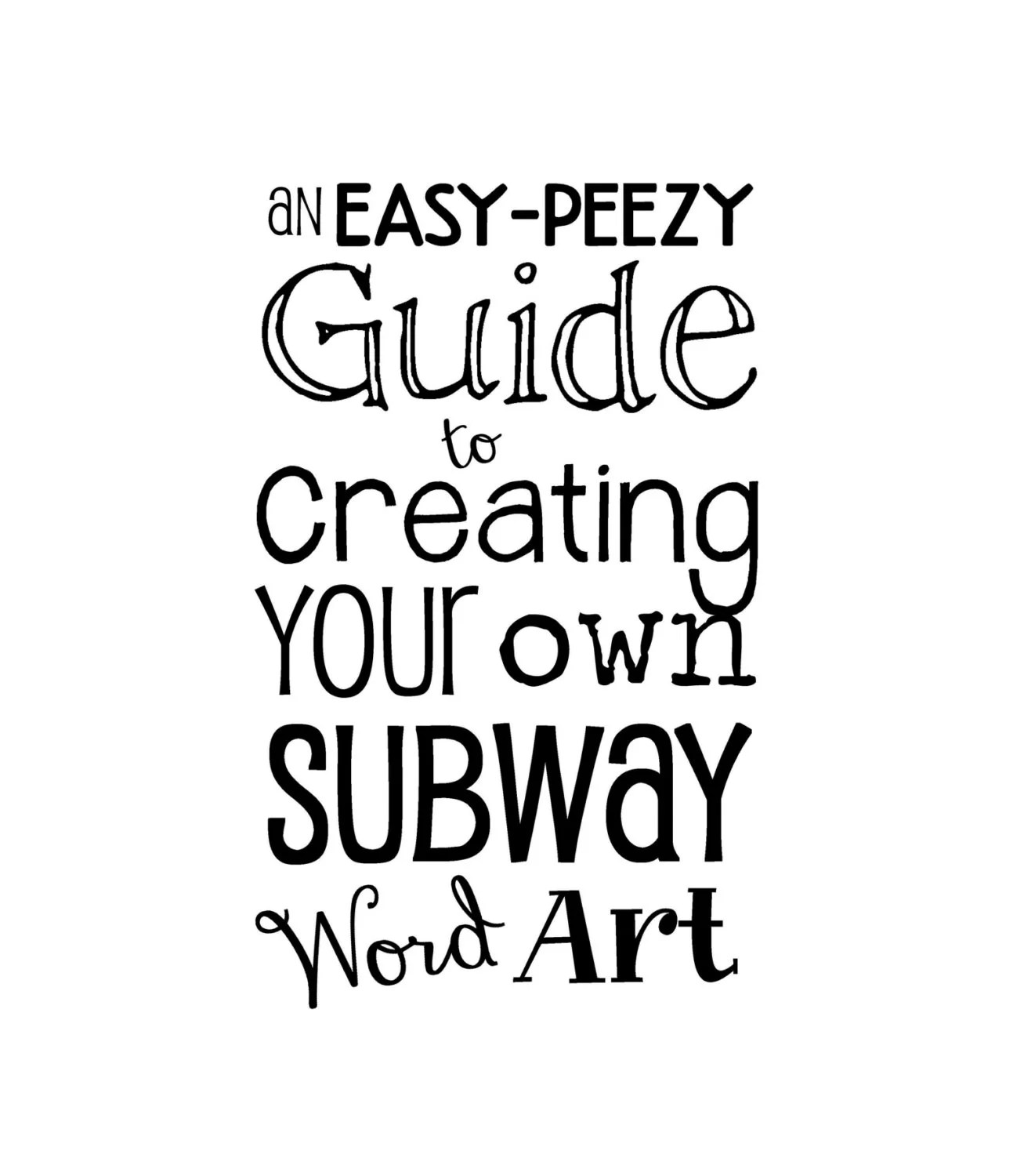 Items similar to An Easy-Peezy Guide to Creating Your Own