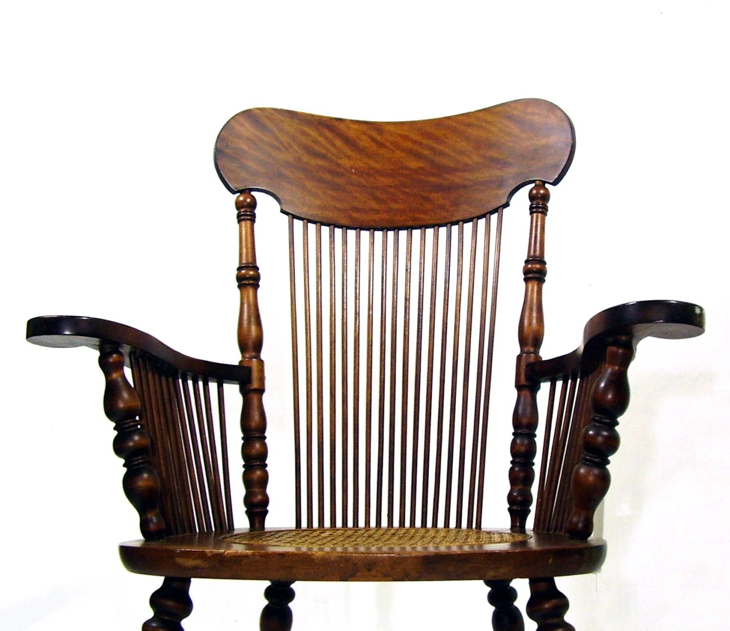 antique rocking chair images of chaise lounge chairs tiger oak wooden rocker cane seat