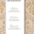 Printable wedding menu cursive design by mystichilldesigns