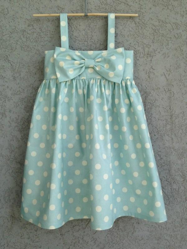 Light Blue Polka Dot Dress