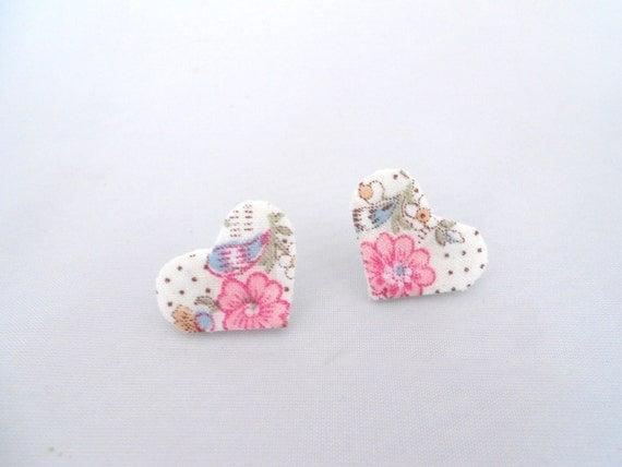 Heart Earrings Felt Post Earrings Stud Earrings