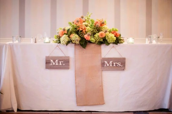 mr and mrs sign etsy