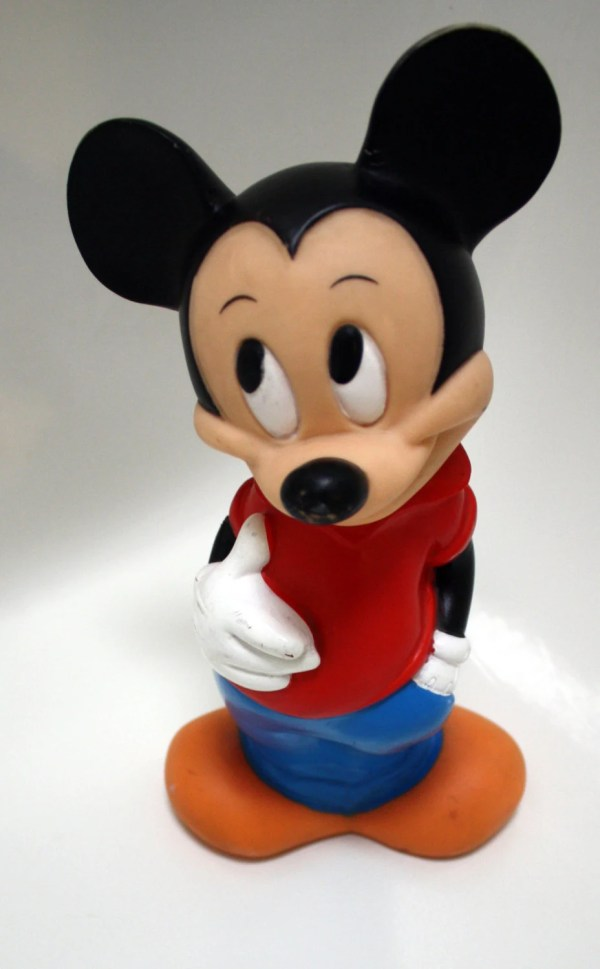 Mickey Mouse Bank. Vintage Walt Disney Plastic