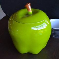 Green Apple Kitchen Decor 60 40 Sink Large Ceramic Granny Smith Cookie Jar