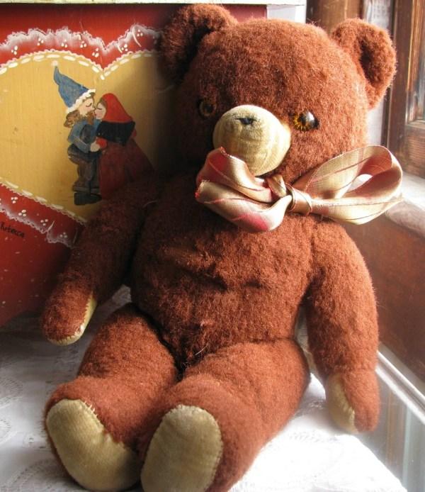 Vintage Knickerbocker Plush Teddy Bear by FrontStreetAntiques
