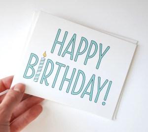 birthday simple happy card cards drawn drawing diy hand drawings bday greetings wishes very aqua orange greeting kinda rowhouse14 lettering