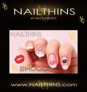 lip print nail decal kiss
