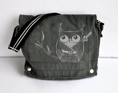 Owl Ninja Dark Gray Messenger bag - namu